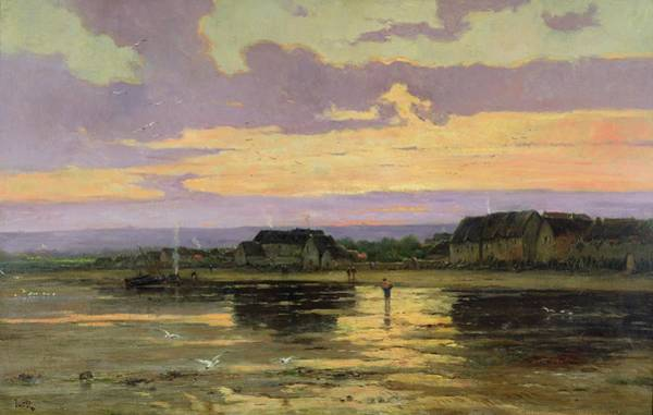Wall Art - Painting - Solitude In The Evening by Marie Joseph Leon Clavel Iwill