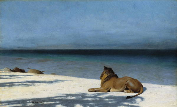 Mountain Lion Painting - Solitude by Jean - Leon Gerome