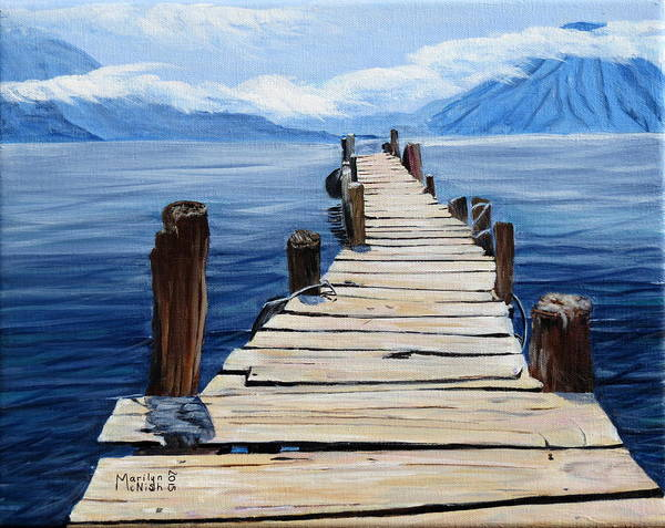 Painting - Crooked Dock  by Marilyn  McNish