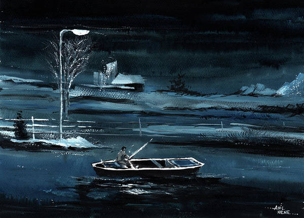 Painting - Solitude New by Anil Nene