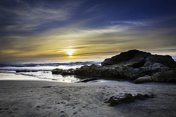 Scripps Pier Photograph - Solitude Rock by ElizabethAnn Linder