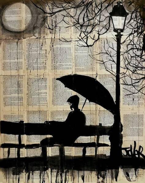 Park Bench Mixed Media - Solitude by T Behera