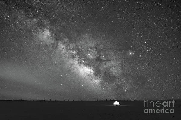 Photograph - Solitude Under The Stars Bw by Michael Ver Sprill