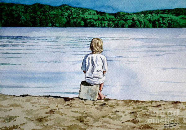 Painting - Solitude Upon The Lake by Christopher Shellhammer