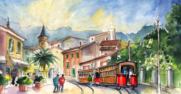 Wall Art - Painting - Soller In Majorca 01 by Miki De Goodaboom