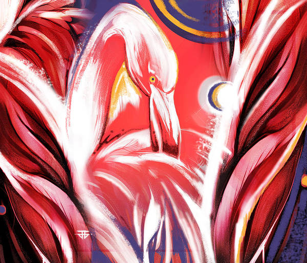 Painting - Solo Flamingo by John Jr Gholson