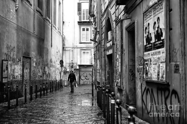Wall Art - Photograph - Solo Walk Through Naples by John Rizzuto