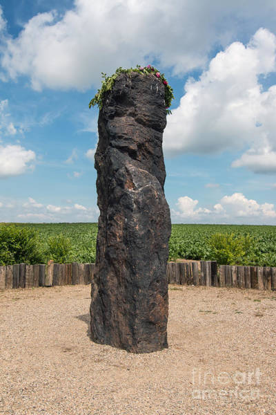 Celtic Mythology Wall Art - Photograph - Solstice Celebrations - Menhir Stone Shepherd by Michal Boubin