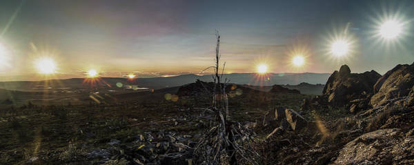 Photograph - Solstice Finger Mountain 2x5 Panoramic Crop by Ian Johnson