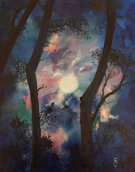 Painting - Solstice Moonshine        109 by Cheryl Nancy Ann Gordon