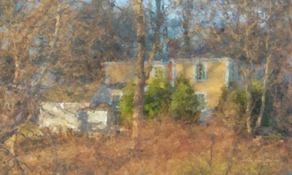 Painting - Solstice Morning Light On Colonial Home by Bill McEntee