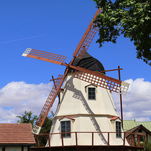 Solvang Photograph - Solvang Mission Drive Windmill by Art Block Collections