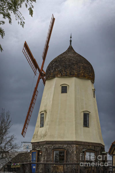 Solvang Photograph - Solvang Windmill by Mitch Shindelbower
