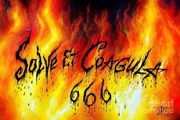 Satanism Digital Art - Solve Et Coagula - Hellish Fire And Power by Sofia Metal Queen