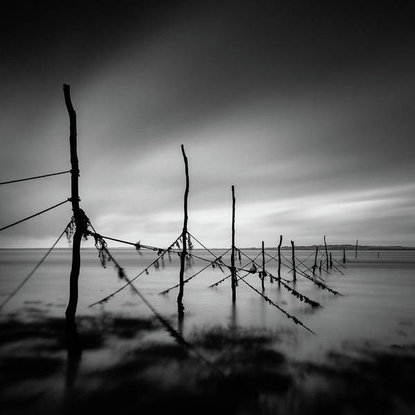 Galloway Wall Art - Photograph - Solway Firth Fishing Nets by Dave Bowman