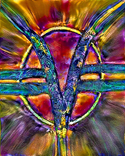New Thought Digital Art - Som Symbol - Multi E101 by Artistic Mystic