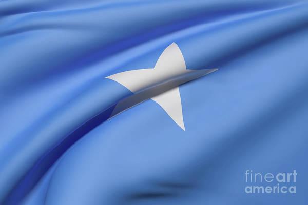 Mogadishu Wall Art - Digital Art - Somalia Flag Waving by Enrique Ramos Lopez
