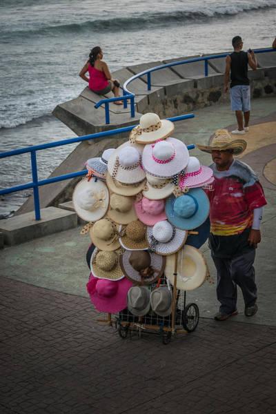 La Libertad Photograph - Sombreros Vendor by Totto Ponce