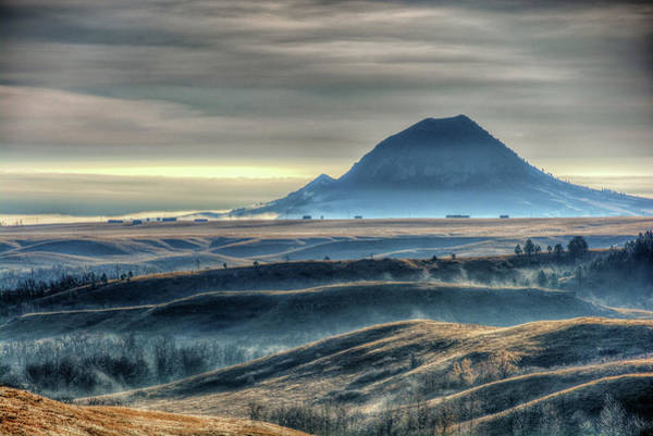 Photograph - Some Bear Butte Fog by Fiskr Larsen