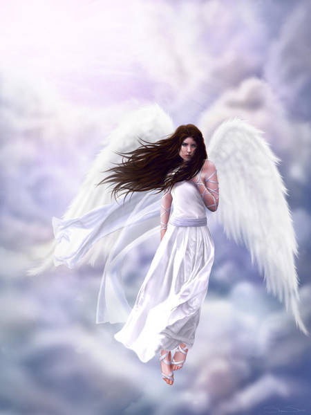 Angelic Digital Art - Some Clouds Have Wings by Stephanie Shimerdla