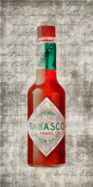 Painting - Some Like It Hot Tabasco Sauce by Edward Fielding
