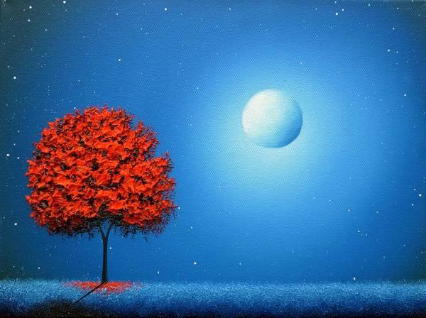 Full Moon Painting - Some Night Soon by Rachel Bingaman