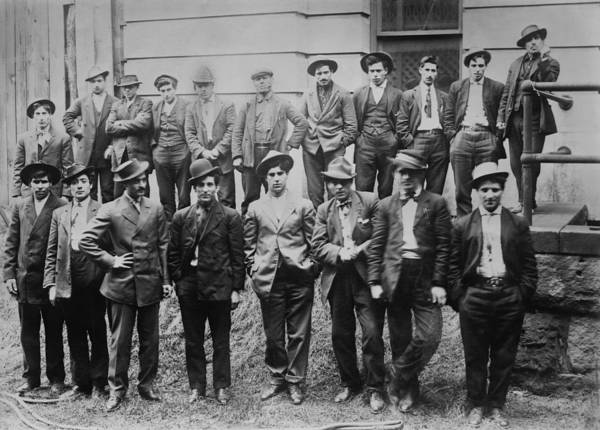 Italian Immigrants Wall Art - Photograph - Some Of The 100 Italian And Slavic Coal by Everett