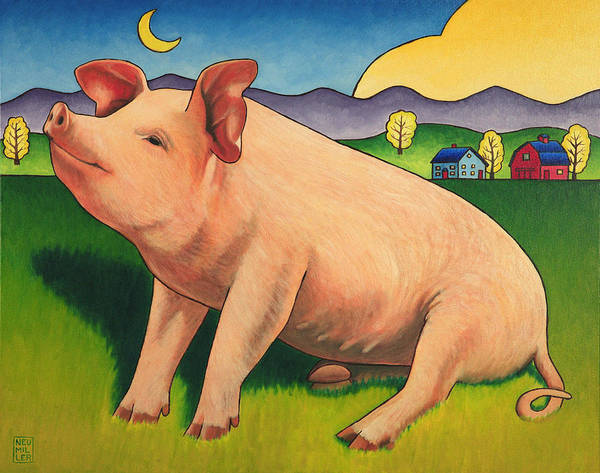 Wall Art - Painting - Some Pig by Stacey Neumiller