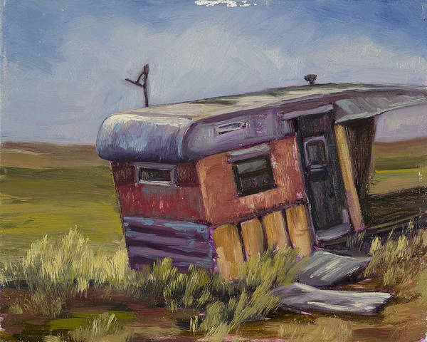 Dilapidation Painting - Some Where In The Middle Of No Where by Julie Rumsey