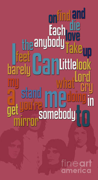 Wall Art - Digital Art - Somebody To Love. Queen. Typography Art. Gift For Music Fans by Drawspots Illustrations