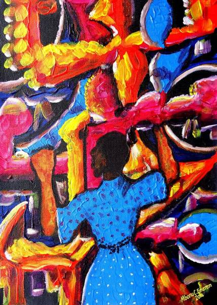 Recycling Painting - Somebody Waiting For Signs And Wonders by Mbonu Emerem