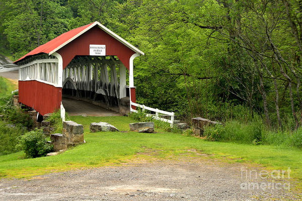 Laurel Hill Creek Photograph - Somerset Bridge To The Past by Adam Jewell