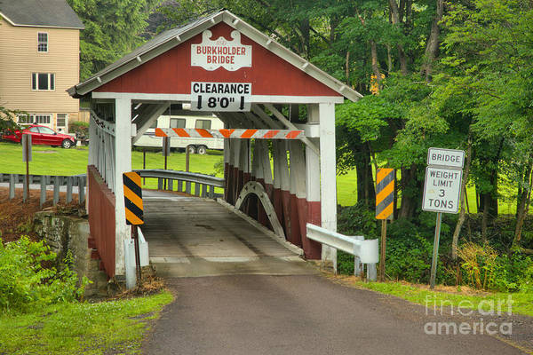 Garrett County Wall Art - Photograph - Somerset Burholder Covered Bridge by Adam Jewell