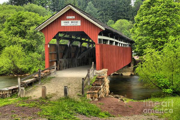 Laurel Hill Creek Photograph - Somerset Kings Covered Bridge by Adam Jewell