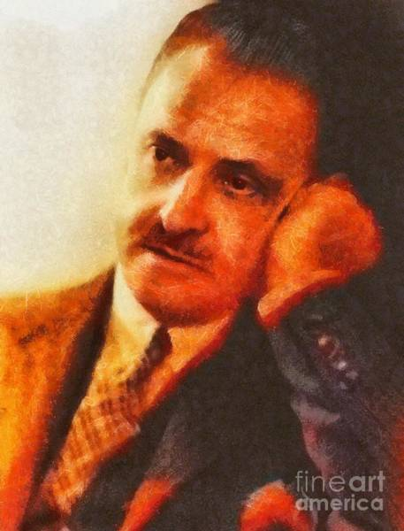 Poetry Painting - Somerset Maugham, Literary Legend by Mary Bassett