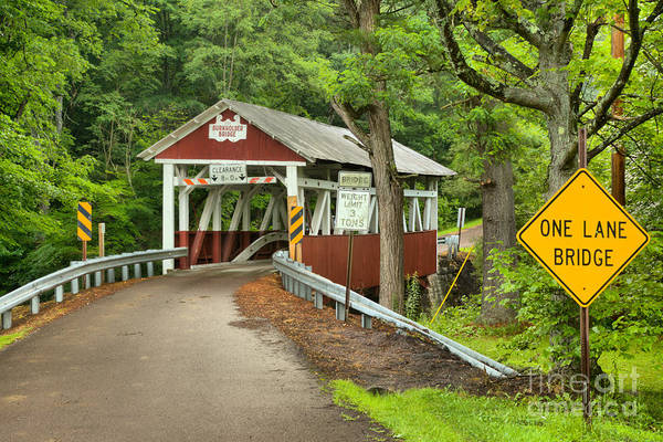 Garrett County Wall Art - Photograph - Somerset One Lane Bridge by Adam Jewell