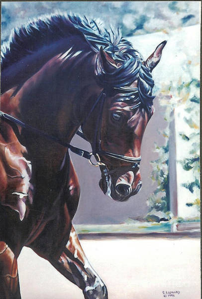 Dressage Painting - Somerset by Suzanne Leonard