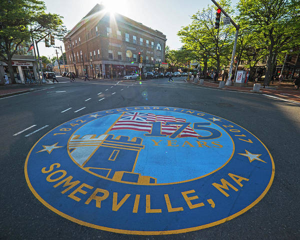 Photograph - Somerville Ma Davis Square 175 Years by Toby McGuire