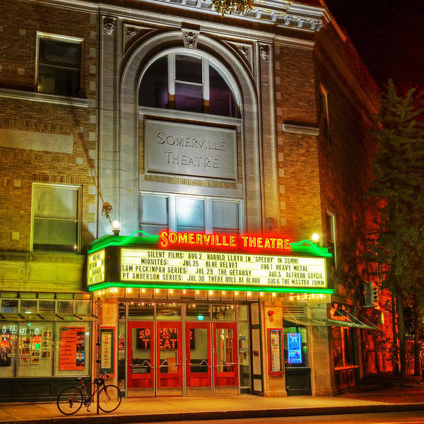 Photograph - Somerville Theater In Davis Square Somerville Ma Sqr by Toby McGuire