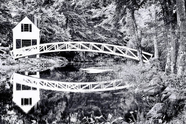 Photograph - Somesville Bridge, Mount Desert, Maine In Black And White by Kay Brewer