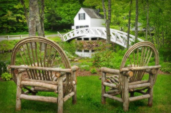 Somesville Maine - Arched Bridge Art Print