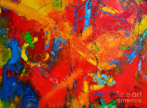 Painting - Something About You Modern Abstract Oil Painting Palette Knife Work by Patricia Awapara