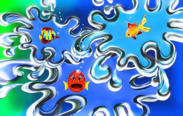 Fun Wall Art - Digital Art - Something Fishy by Steve Ohlsen