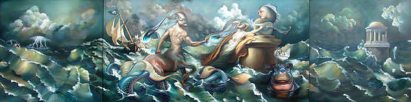 Wall Art - Painting - Something Fowl Afloat 2b by Patrick Anthony Pierson
