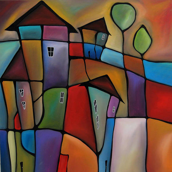 Wall Art - Painting - Somewhere Else - Abstract Pop Art By Fidostudio by Tom Fedro - Fidostudio