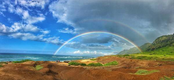 Kaena Photograph - Somewhere Over The Rainbow by Megan Martens