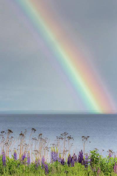 Lake Superior Photograph - Somewhere Under The Rainbow by Mary Amerman