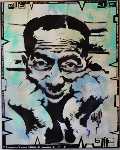 Delta Mixed Media - Son House In Ur Face by Michael Carter
