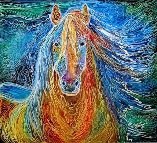 Painting - Son Of Midnightsun by Marcia Baldwin