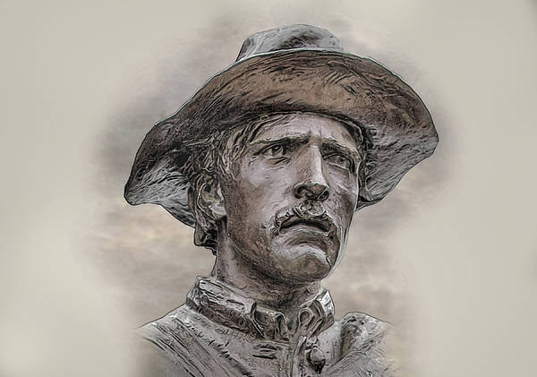 Son Of The Confederacy Portrait Art Print